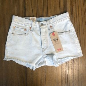 Levi's 501 mid rise button fly cutoff shorts